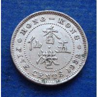 Гонконг Британская колония 5 центов 1939 Георг VI
