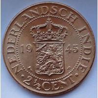 Голландская Ост-Индия 2 1/2 цента. 1945 (Р)