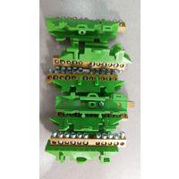 Клеммная колодка на DIN-рейку (5х16мм2 + 6х10мм2), Зелёная Hager
