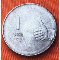 16-09 Индия, 1 рупия 2008 г. Калькутта
