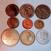 Монеты разных стран мира с рубля. Лот 9.