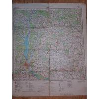 Карта 1981 г. Система координат 1942г., ссср, усср, бсср. Секретно, издание 1981 г