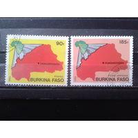 Буркина Фасо 1985 Карта страны Михель-3,0 евро гаш