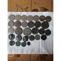 Лот серебряных монет+ 2 монетки лот больше выстовляться Не будет