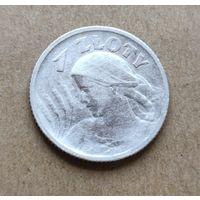 1 злотый 1924 жница