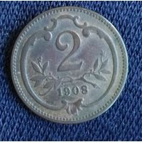 2 геллера 1908  Австро-Венгрия