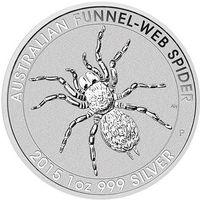 "Австралия 1 доллар 2015г. ""Паук"" посеребрянная 1 оз 999 серебро. распродажа"
