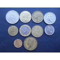 Монеты Франции. С 1 рубля.