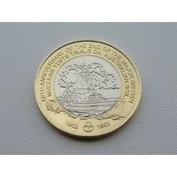 """Монте-Белло острова. 5 долларов 2013 год """"Рыба-Корабль"""" Редкая!!! UNC Тираж: 1.000"""
