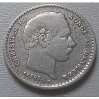 Дания 25 эре 1874 г.