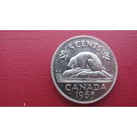 Канада 5 центов  1965