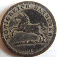10. Ганновер 1 грош 1858 год, Георг-5, билон
