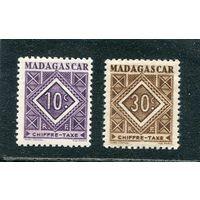 Мадагаскар. Марки почтового сбора. Новые цифры