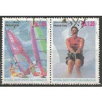 Пакистан. Водные виды спорта. 1995г. Mi#961-62. Сцепка.