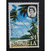 Сент-Люсия 1964 г. Пляж.