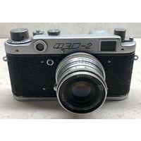Фотоаппарат ФЭД-2 1956 г. с объективом Индустар-26м поводковым готовый к съёмке