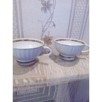 Чашка фарфоровая ,ребристая 2 шт