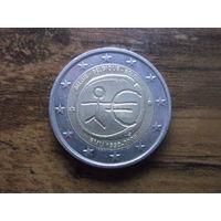 Бельгия 2 евро 2009  10 лет монетарной политики ЕС (EMU) и введения евро