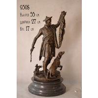 """Бронзовая Скульптура / Статуэтка """"Шотландский охотник"""" Франция Автор - Pierre Jules Mene. (Нет в наличии, под заказ)"""