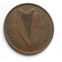 Ирландия 1 пенни, 1935 4-3-4