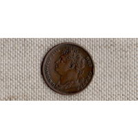 Великобритания 1 фартинг 1825/Георг 4(Uss)