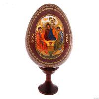 """Троица"" икона, яйцо с подставкой, дерево, а также другие внутри лота(13-02)"