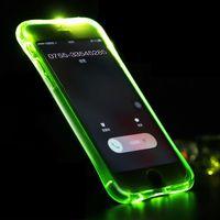 Светящийся чехол для телефона  iPhone 6/6S зеленый / чехол для телефона iPhone / iPhone 6/6S