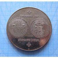 Настольная медаль, посвященная выпуску 3 пфеннигов 1747 Германия
