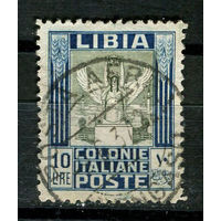 Итальянские колонии - Ливия - 1924 - Крылатая Виктория 10L - [Mi.B62C] - 1 марка. Гашеная.  (Лот 29J)