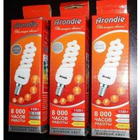"""Лампочки энергосберегающие """"Arondie"""" (15 Вт) 3 штуки"""