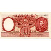Аргентина 10 песо 1954-63