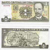 Куба  1 песо  2016  год   UNC