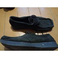 Замшевые туфли в отличном состоянии р-р 44