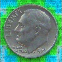 США 10 центов 1969 года, Фрaнклин Делано Рузвельт. Подписывайтесь! Много новых лотов в продаже!!!