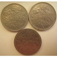 Мальта 25 центов 1993, 1995 гг. Цена за 1 шт. (gl)