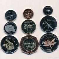 Остров Святого Евстафия Набор монет (монетовидных жетонов) 2013 Животные Насемомые UNUSUAL