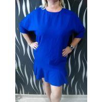 Платье синее 56 размер