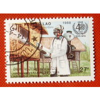 Лаос. ( 1 марка ) 1988 года.