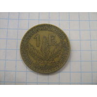 Камерун (Французский мандат) *1 франк 1925г.km2