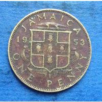 Ямайка Британская колония 1 пенни 1953
