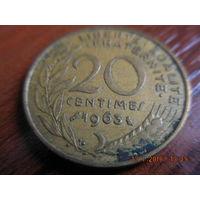 20 сантимов, Франция, 3