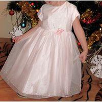 Платье праздничное + кофточка-болеро р.104