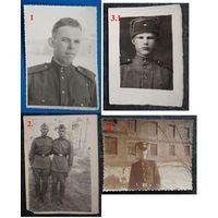 Фото солдат. 4 штуки. 1950-60 г. Цена за 1