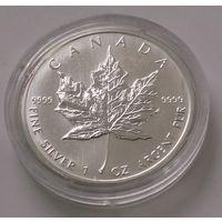 Канада 1991 серебро (1 oz) (в капсуле)