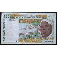 Кот д`Ивуар 500 франков 2002 (P110Am) VF
