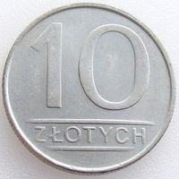 Польша, 10 злотых 1988 года, Y#152.1, медь-никель