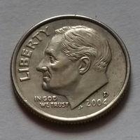10 центов (дайм) США 2004 D, AU