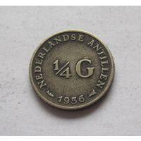 Нидерландские Антильские острова 1/4 гульдена 1956 - серебро