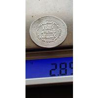 Редкость, ранний исламский дирхем династии омейядов, монетный двор Дамаск 95 г.х.