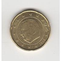 20 евроцентов Бельгия 2002. Лот 5227